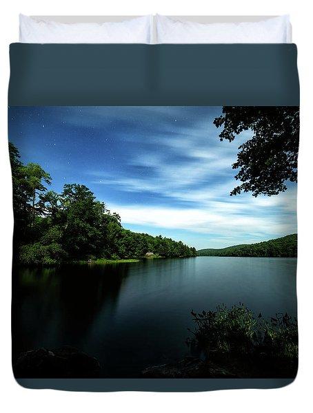 Moonlit Lake Duvet Cover