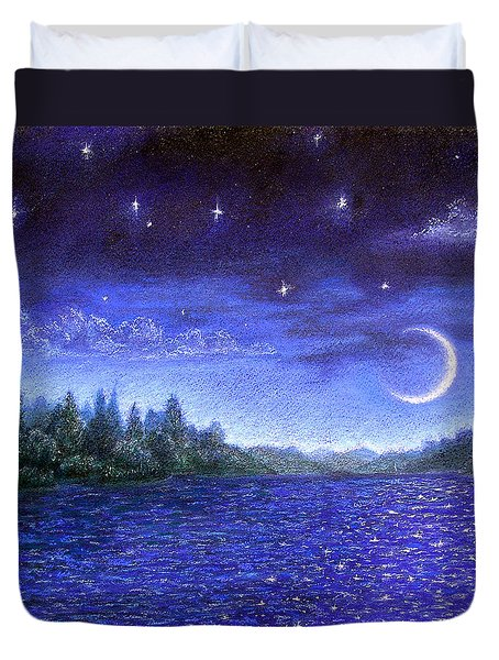 Moonlit Lake Duvet Cover