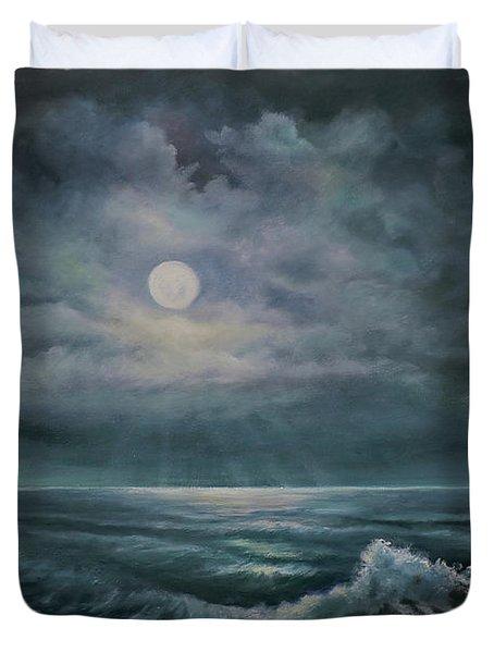 Moonlit Seascape Duvet Cover
