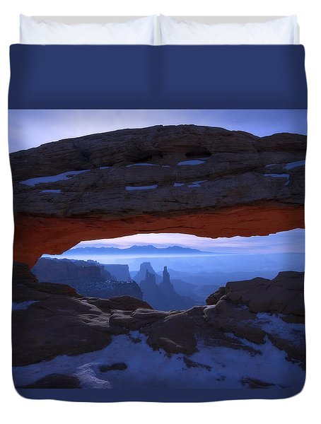 Moonlit Mesa Duvet Cover by Chad Dutson