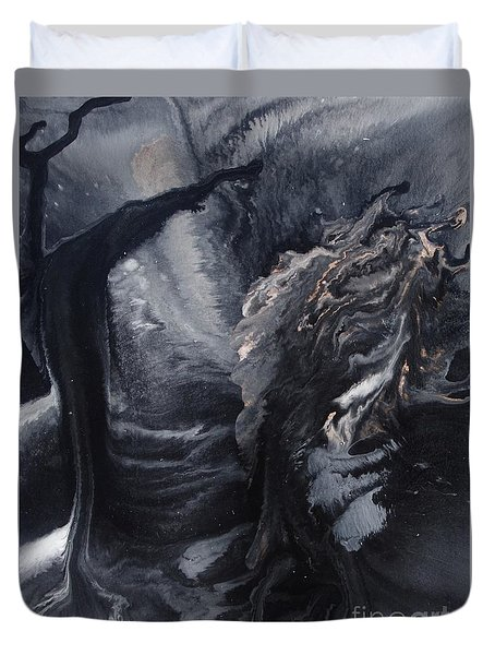 Moonlit Path Duvet Cover by Lori Kingston