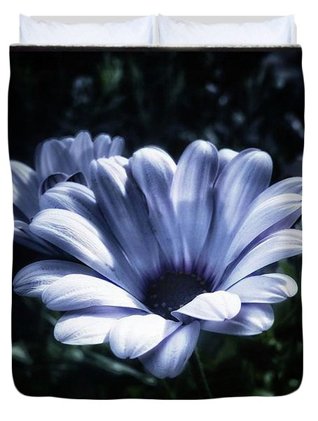 Duvet Cover featuring the photograph Moonlit Petals. From The Beautiful by Mr Photojimsf