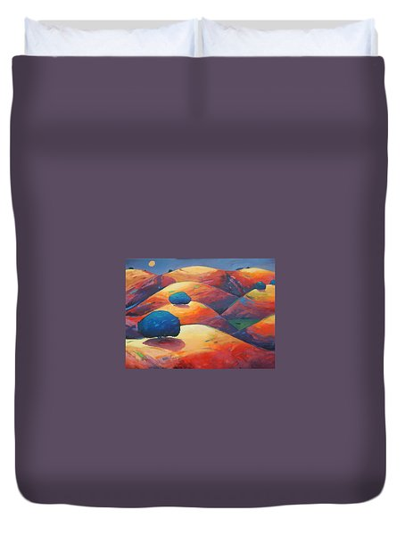 Moonlit Rollers Duvet Cover by Gary Coleman