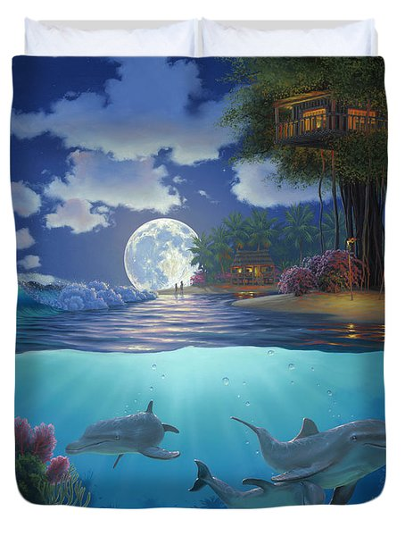 Moonlit Sanctuary Duvet Cover by Al Hogue