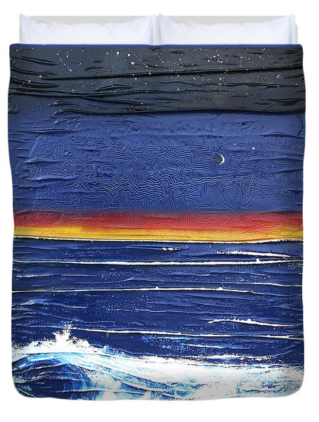 Moonlit Seascape Duvet Cover