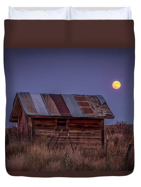 Moonlit Shed Duvet Cover