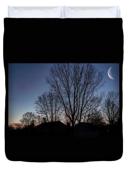 Moonlit Sunrise Duvet Cover