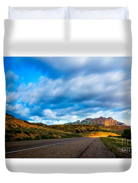 Moonlit Zion Duvet Cover