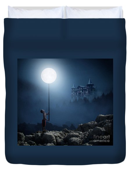 Moonplay Duvet Cover