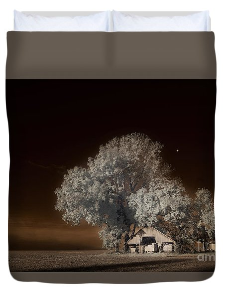 Moonrise Over The Bottoms, October Duvet Cover