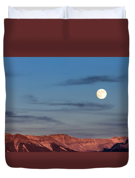 Moonrise With Afterglow Duvet Cover