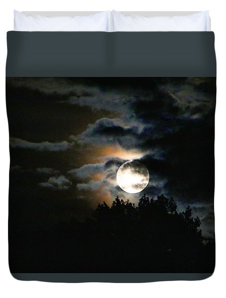 Moonset In The Clouds 2 Duvet Cover