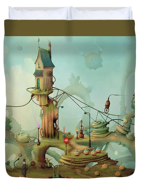 Moonshine Manor The Finest Distillery West Of The Sun Duvet Cover