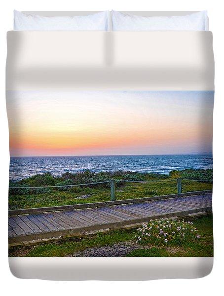 Moonstone Beach Boardwalk Duvet Cover by Lynn Bauer