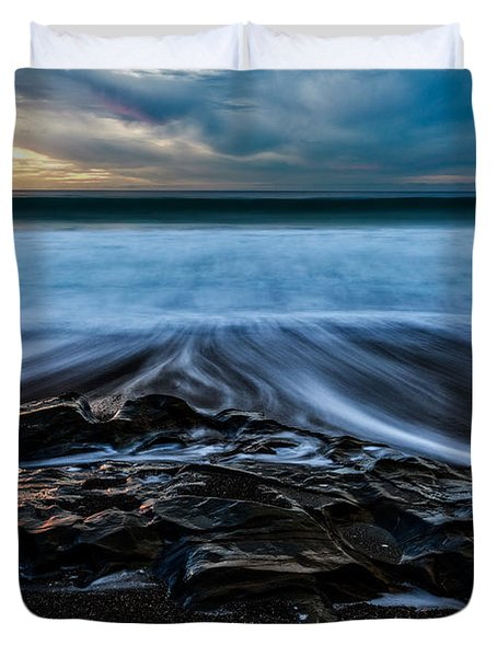 Moonstone Beach In The New Year Duvet Cover