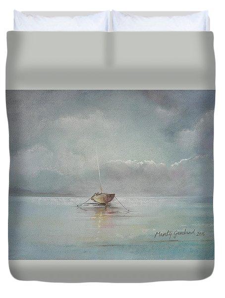 Moored Boat Duvet Cover