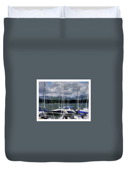Moored In Beauty Duvet Cover