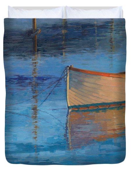 Moored In Light-sold Duvet Cover