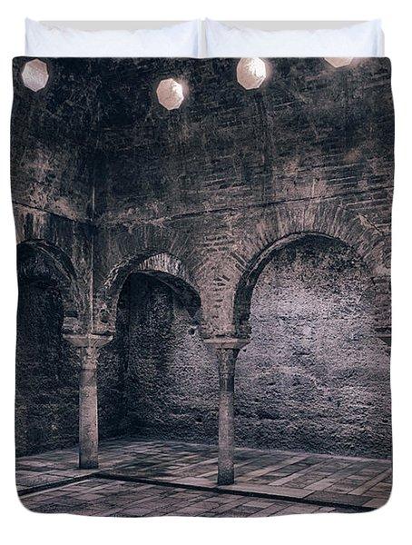 Moorish Baths Granada Bw Duvet Cover