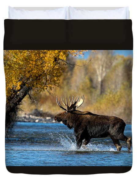 Moose Crossing Duvet Cover