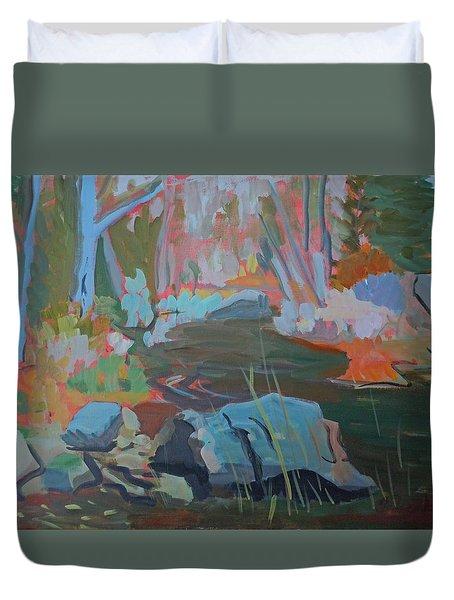 Moose Lips Brook Duvet Cover