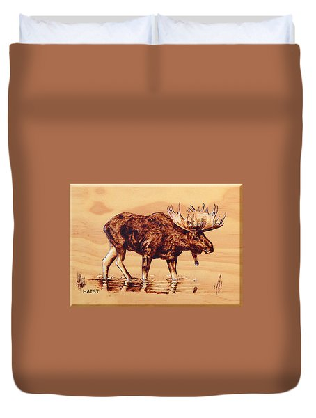 Moose Marsh Duvet Cover