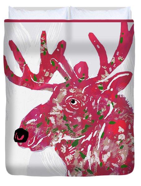 Moose - Pop Art Poster Duvet Cover