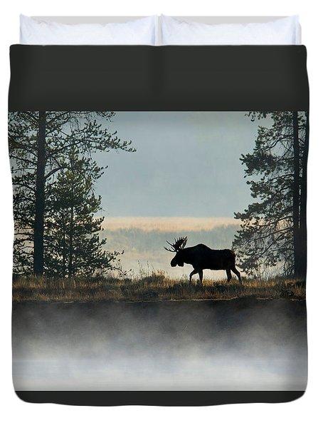 Moose Surprise Duvet Cover