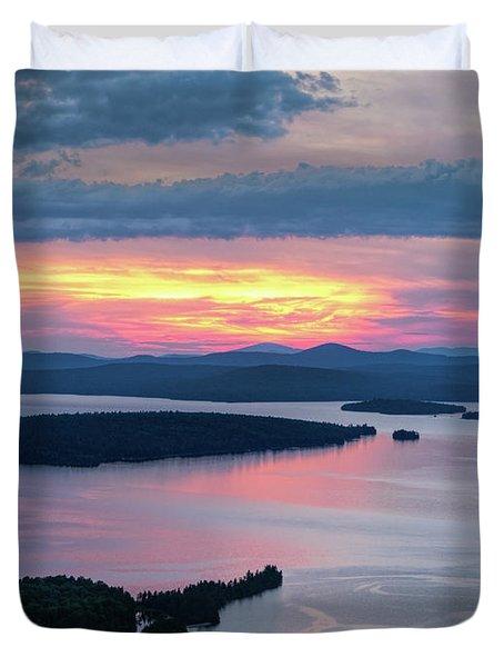Mooselookmeguntic Lake In The Last Light Of Day - Rangeley Me  -63430 Duvet Cover