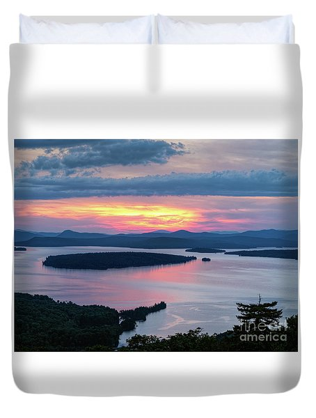 Mooselookmeguntic Lake In The Last Light Of Day - Rangeley Me  -63430 Duvet Cover