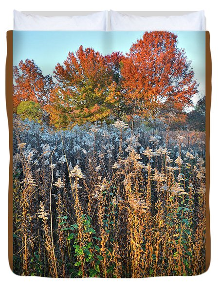 Duvet Cover featuring the photograph Moraine Hills Fall Colors by Ray Mathis