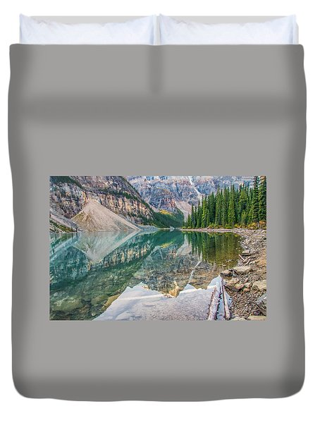 Duvet Cover featuring the photograph Moraine Lake 2009 04 by Jim Dollar
