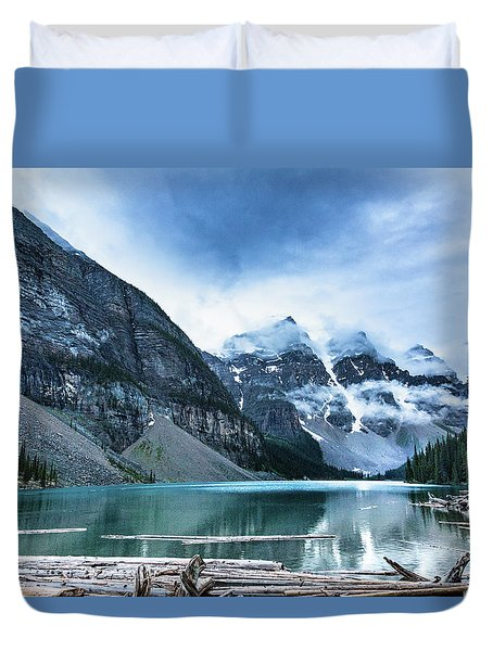 Moraine Lake Blues Duvet Cover