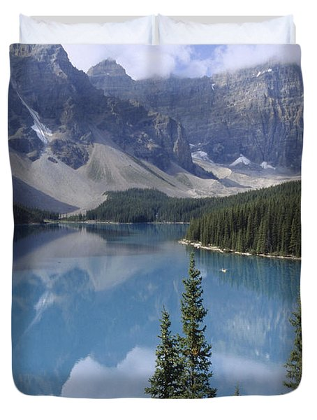 Moraine Lake Canada Duvet Cover by Rudi Prott