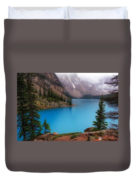 Moraine Lake Duvet Cover