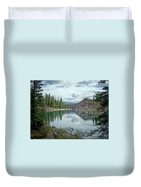 Moraine Lake Canadian Rockies Duvet Cover