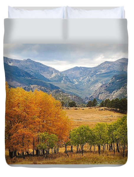 Moraine Park In Rocky Mountain National Park Duvet Cover