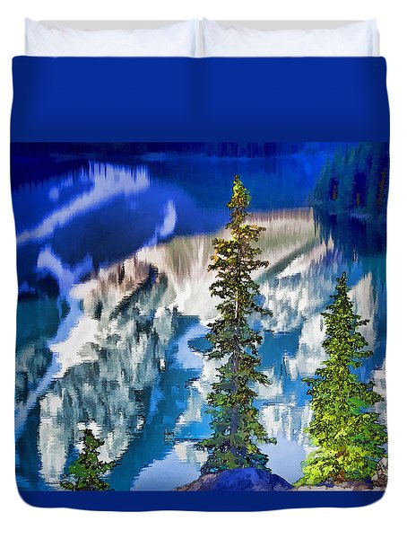 Moraine Reflections Duvet Cover
