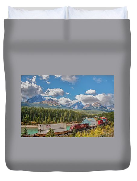 Duvet Cover featuring the photograph Morant's Curve 2009 04 by Jim Dollar