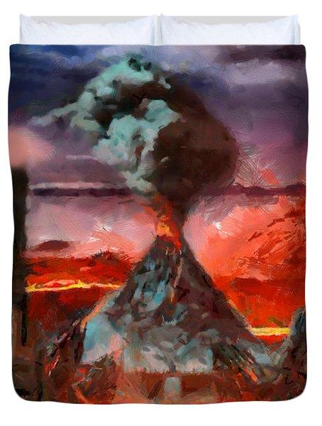 Mordor Panorama Duvet Cover