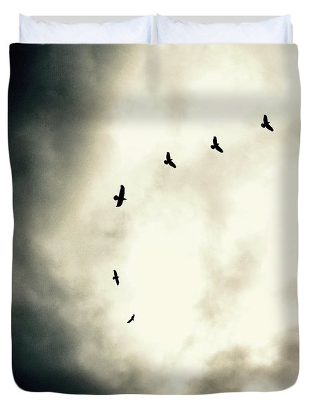 Big Sky Crows Duvet Cover