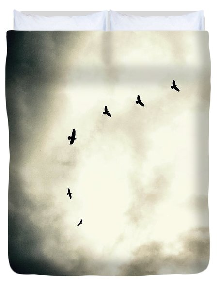 Big Sky Crows Duvet Cover