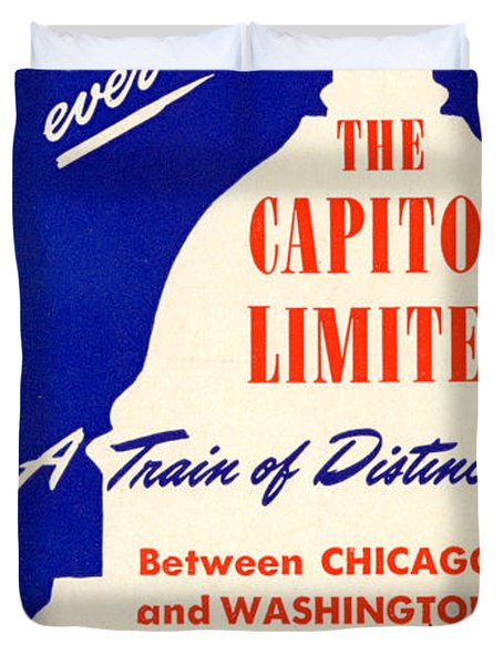 More Than Ever, The Capitol Limited Duvet Cover