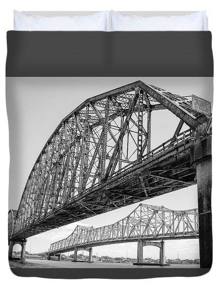 Morgan City Bridges 1 Duvet Cover