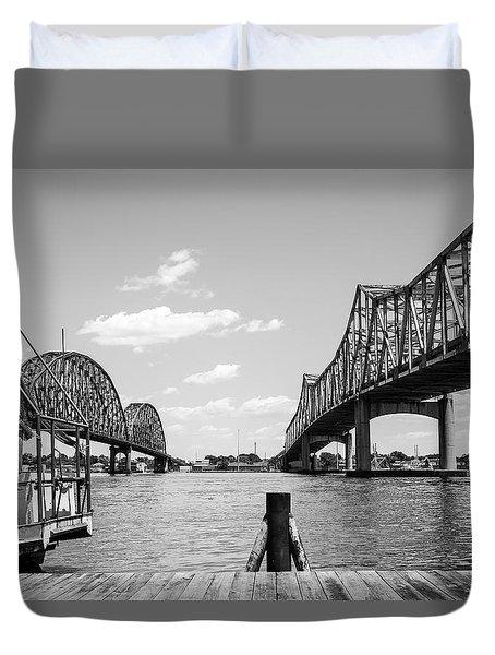 Morgan City Bridges 2 Duvet Cover