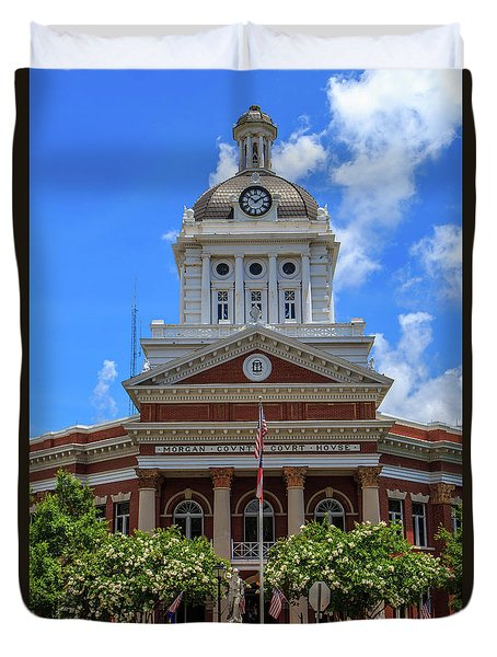 Duvet Cover featuring the photograph Morgan County Court House by Doug Camara
