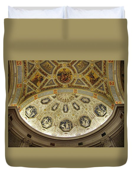 Duvet Cover featuring the photograph Morgan Library Rotunda by Jessica Jenney