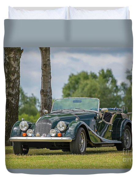 Duvet Cover featuring the photograph Morgan Sports Car by Adrian Evans
