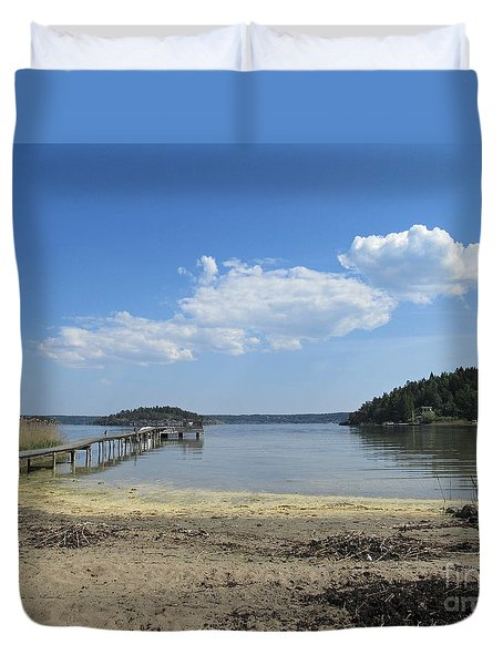 Aspvik On Morko Island Duvet Cover
