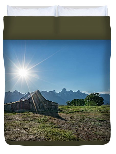Mormon Row Duvet Cover by Alpha Wanderlust